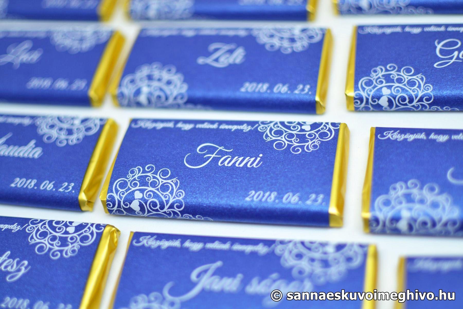 183ca2d063 Csokoládé Ültetőkártya és Köszönetajándék Esküvőre - Sanna Esküvői ...
