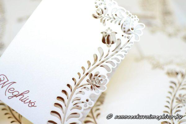 Kalocsai virág esküvői meghívó